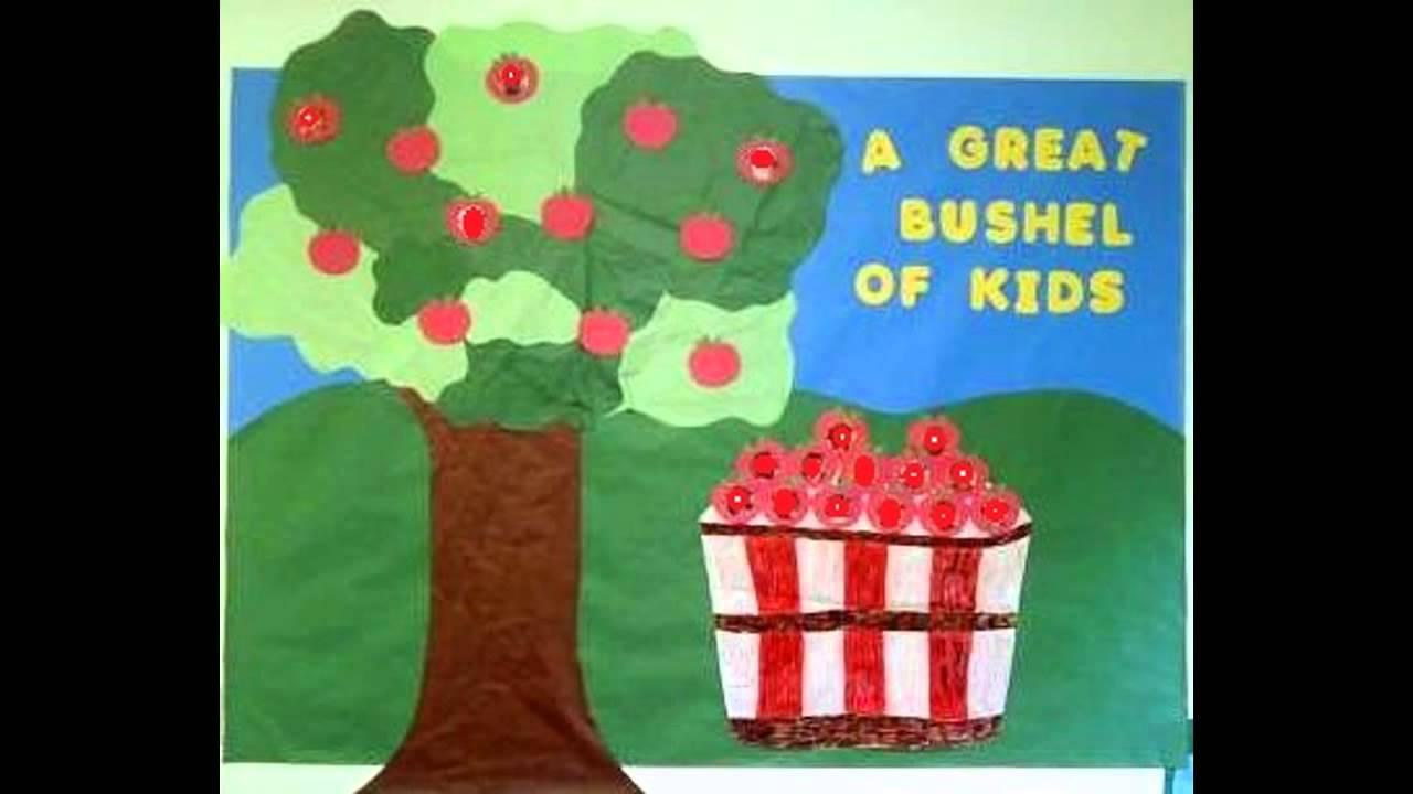 Creative Fall bulletin board decor ideas for preschool ...