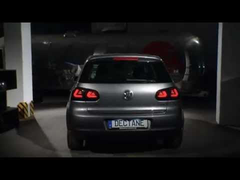 carDNA LED Rückleuchten VW Golf VI LIGHTBAR black/smoke - RV39LLBS