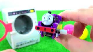 Thomas & friends magical washing machine and toys surprise eggs for kids