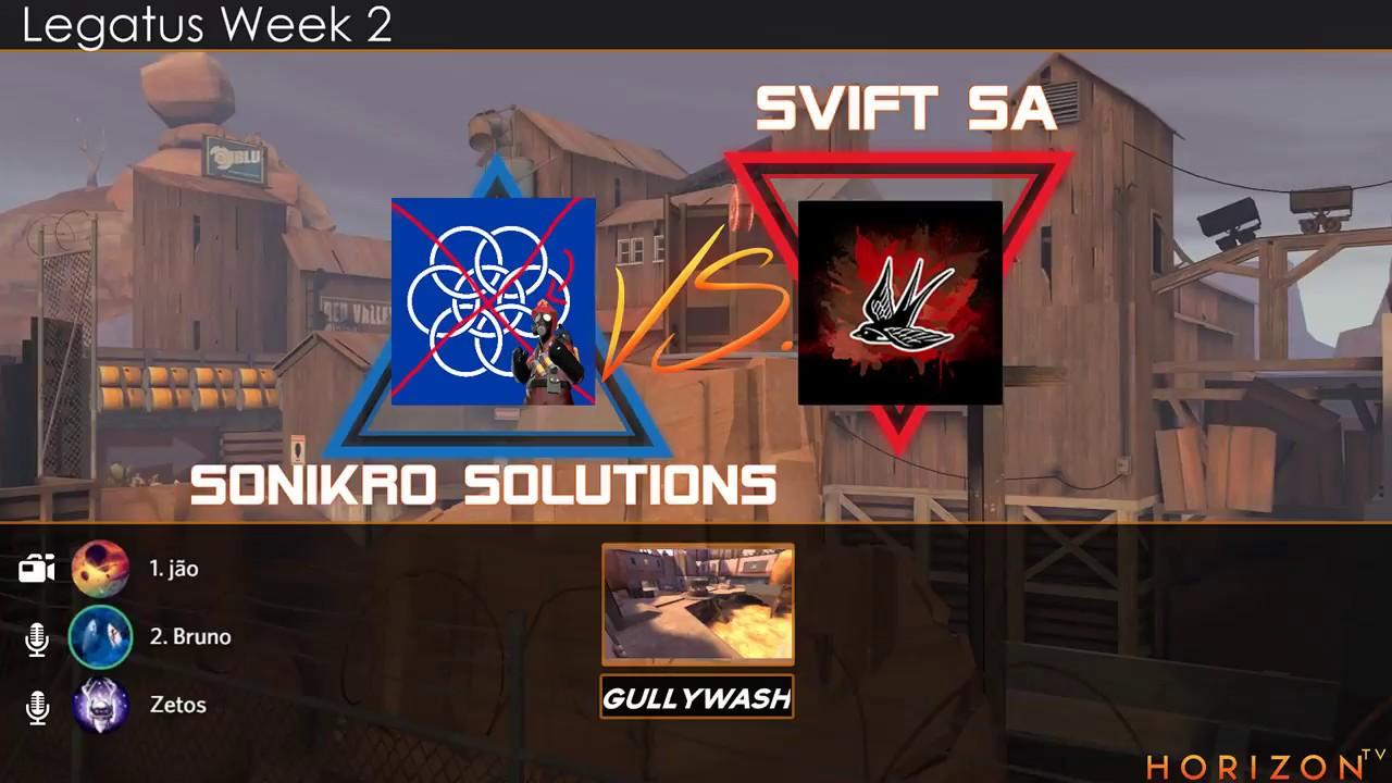 Chapelaria LEGATUS S3 - Week 2: SVIFT SA vs Sonikro Solutions (Bruno, zetos  e jão)