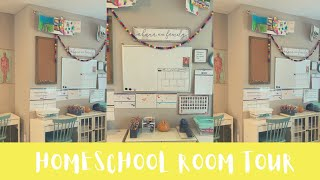 *UPDATED HOMESCHOOL ROOM TOUR||SIMPLE+CLEAN