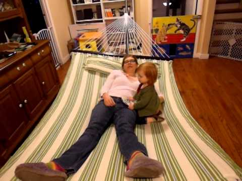 hammock in living room - youtube