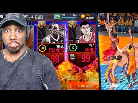99 YAO MING & FRANCIS IN ULTIMATE LEGEND PACK OPENING! NBA Live Mobile Gameplay Pack Opening Ep. 162