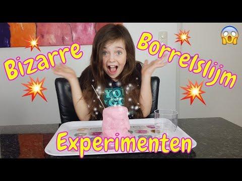 DIY - BIZARRE BORRELENDE SLIJM EXPERIMENTEN + ONTHULLING - Bibi (Nederlands)