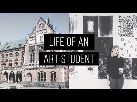 LIFE OF AN ART STUDENT | VLOG | Barbara Crane