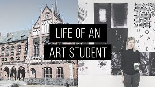 LIFE OF AN ART STUDENT | VLOG | Barbara Crane