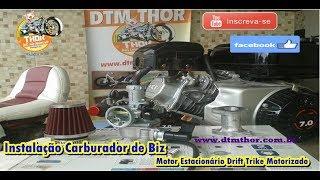 Instalação Carburador de Biz motor estacionário Drift Trike Motorizado DTM THOR