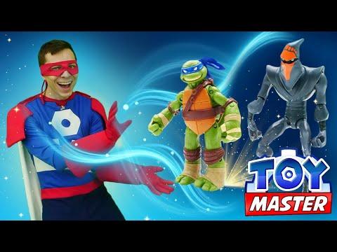 Новые игры для мальчиков - Поддельный Черепашка Ниндзя против Той Мастера! – Видео шоу онлайн.