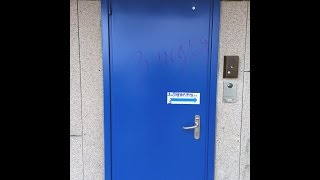 Бучнева Наталья Валерьевна расписывает входную дверь подъезда(, 2015-11-03T20:35:38.000Z)
