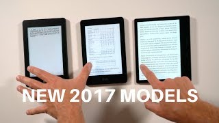 Amazon Kindle Oasis 2017 (9th Gen) vs Voyage 2017 vs Paperwhite (1st Gen)