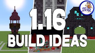 1.16 NETHER Update MINECRAFT Build Ideas for your Survival World