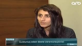 Bakida film kimi cinayet - qadinlar taksi sürücüsünü soydu - ARB TV