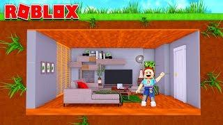 Bygger ett underjordiskt hus i Roblox!