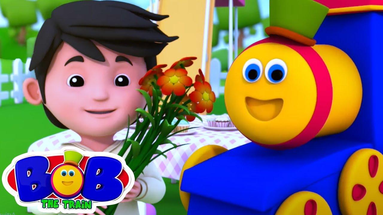그는 유쾌한 좋은 친구입니다   유치원 동요   Bob The Train Korea   교육용 비디오   아이들을 위한 음악   취학 전의