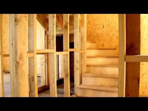 Канадский панельно-каркасный дом внутри. Строительство своими руками под ключ.
