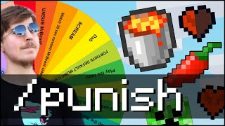 Minecraft !PUNISH Hardcore Lucky Wheel (MrBeast & Pewdiepie Wheel)