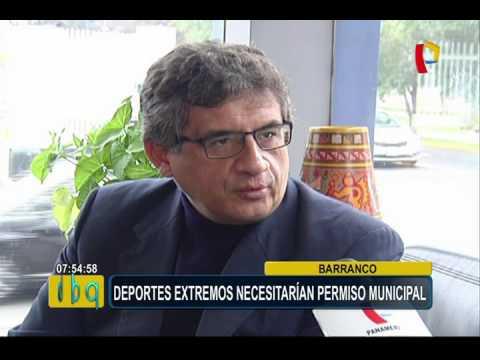 Barranco: la práctica de deportes extremos necesitaría permiso municipal (1/2)