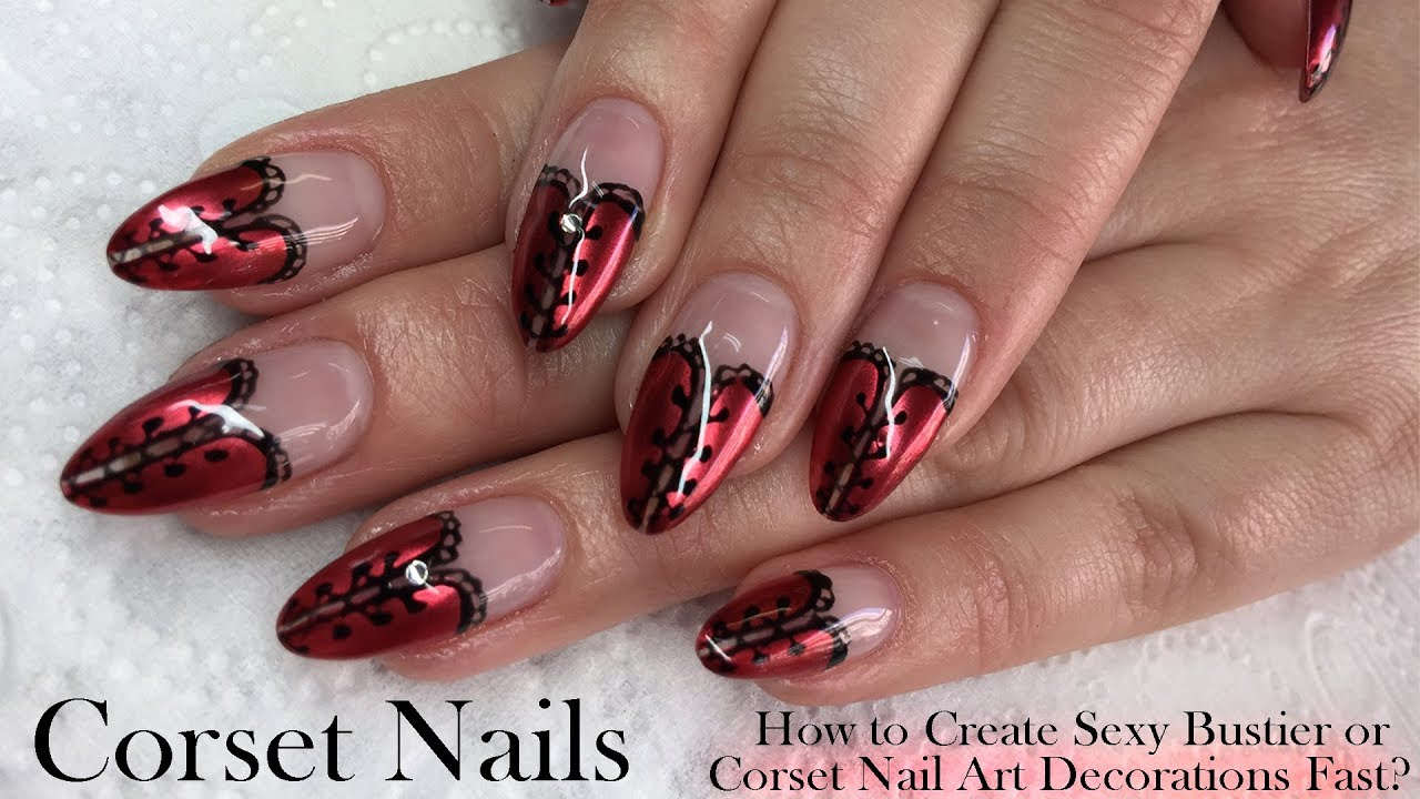 Corset Nails: How to Create Sexy Corset Nail Art Decorations? - YouTube