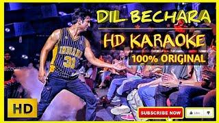 Dil Bechara Karaoke | Title Track Karaoke | Hd Karaoke || SSR Karaoke | AR Rahman