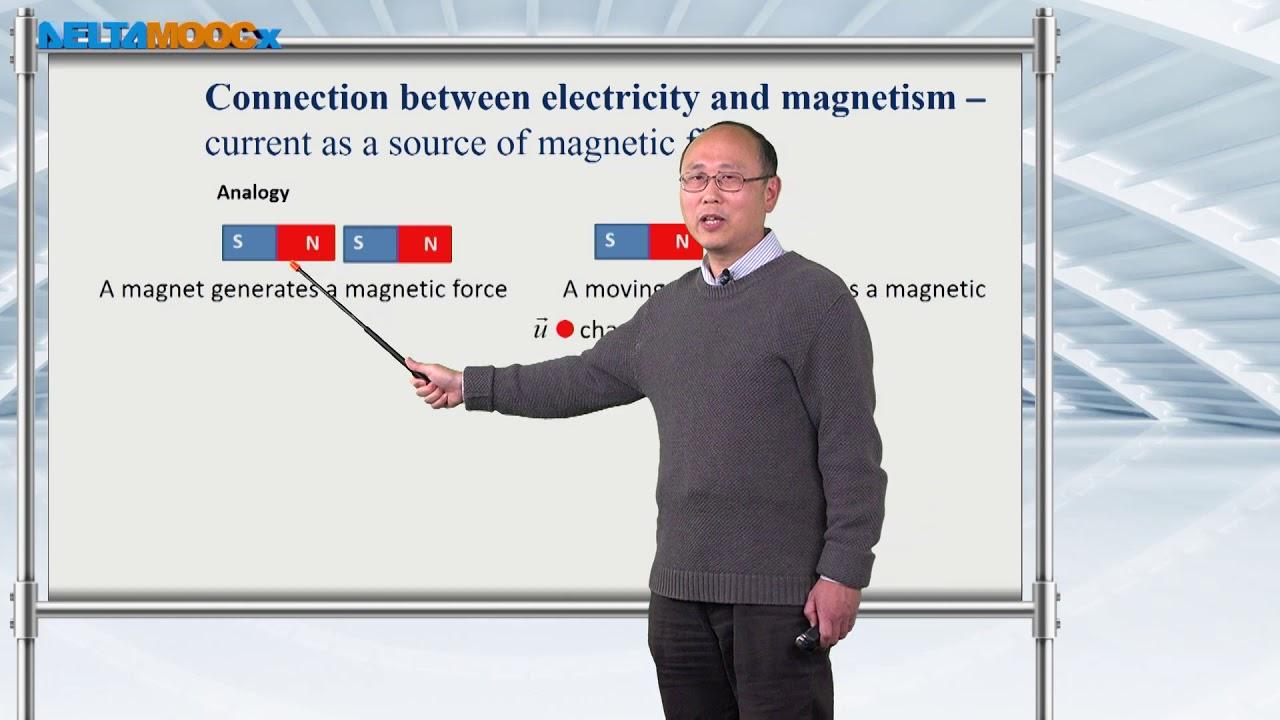 電磁學(一)_黃衍介_第一章 電磁學的基本物理量_5.電與磁的關連 - YouTube