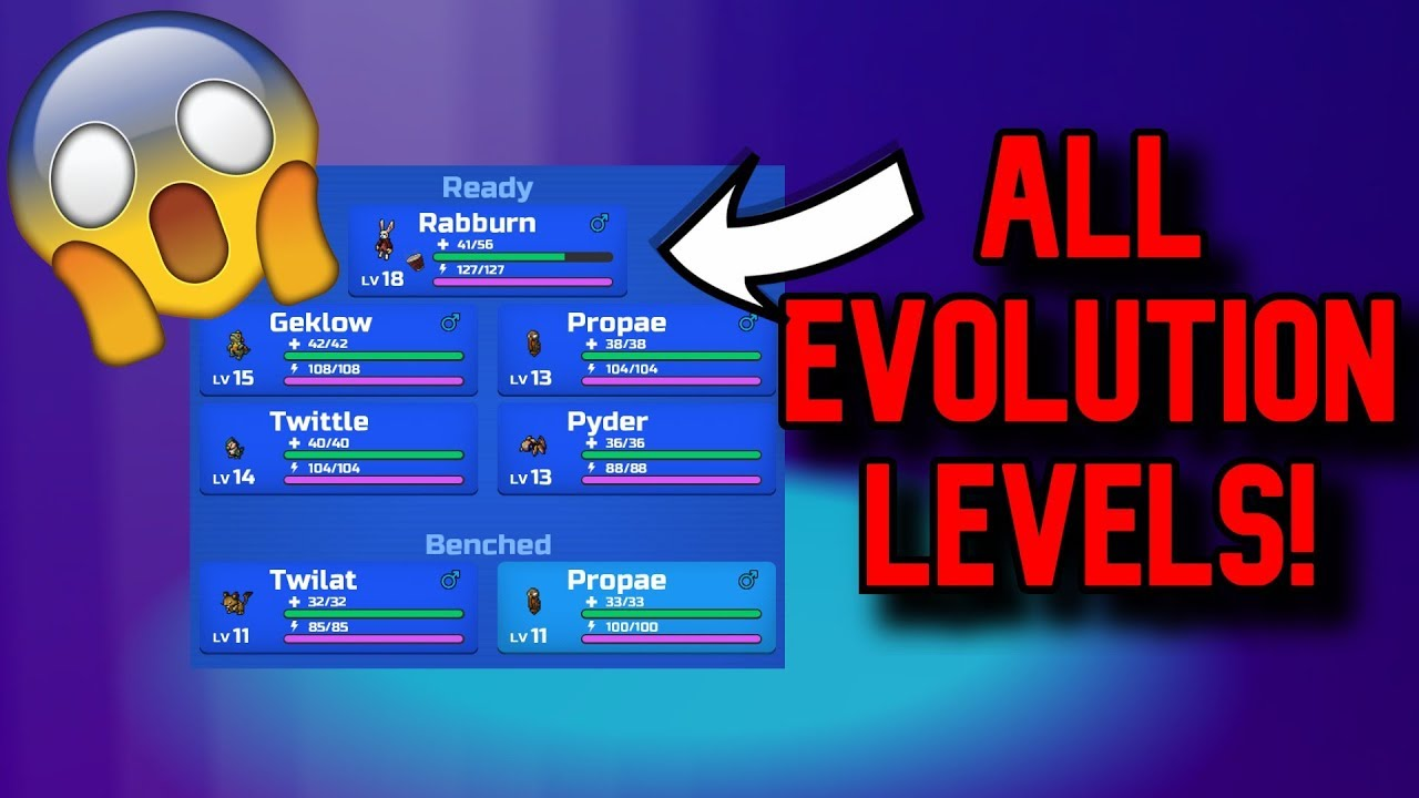 All Loomian Evolution Levels Roblox Loomian Legacy Youtube