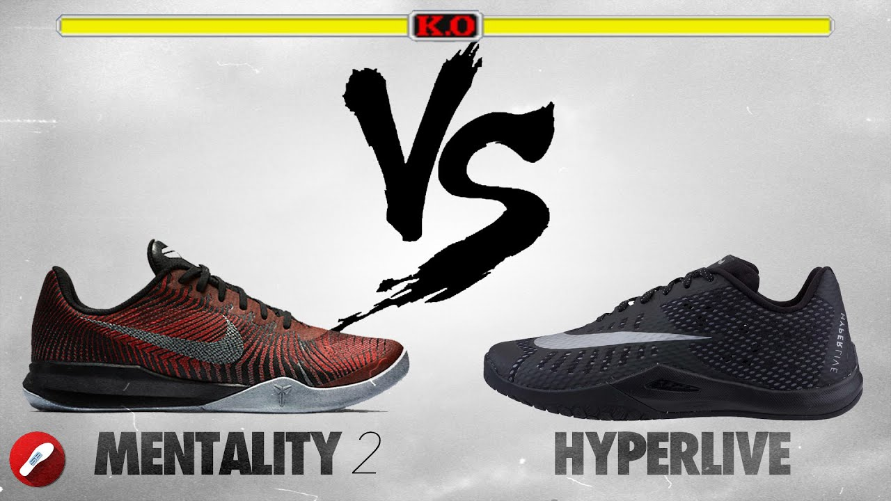 de540e5aa307 Nike Kobe Mentality 2 vs Nike Hyperlive! - YouTube