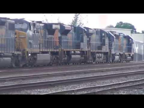 CSX SLUG Unit Leads 6 Engine Manifest Train