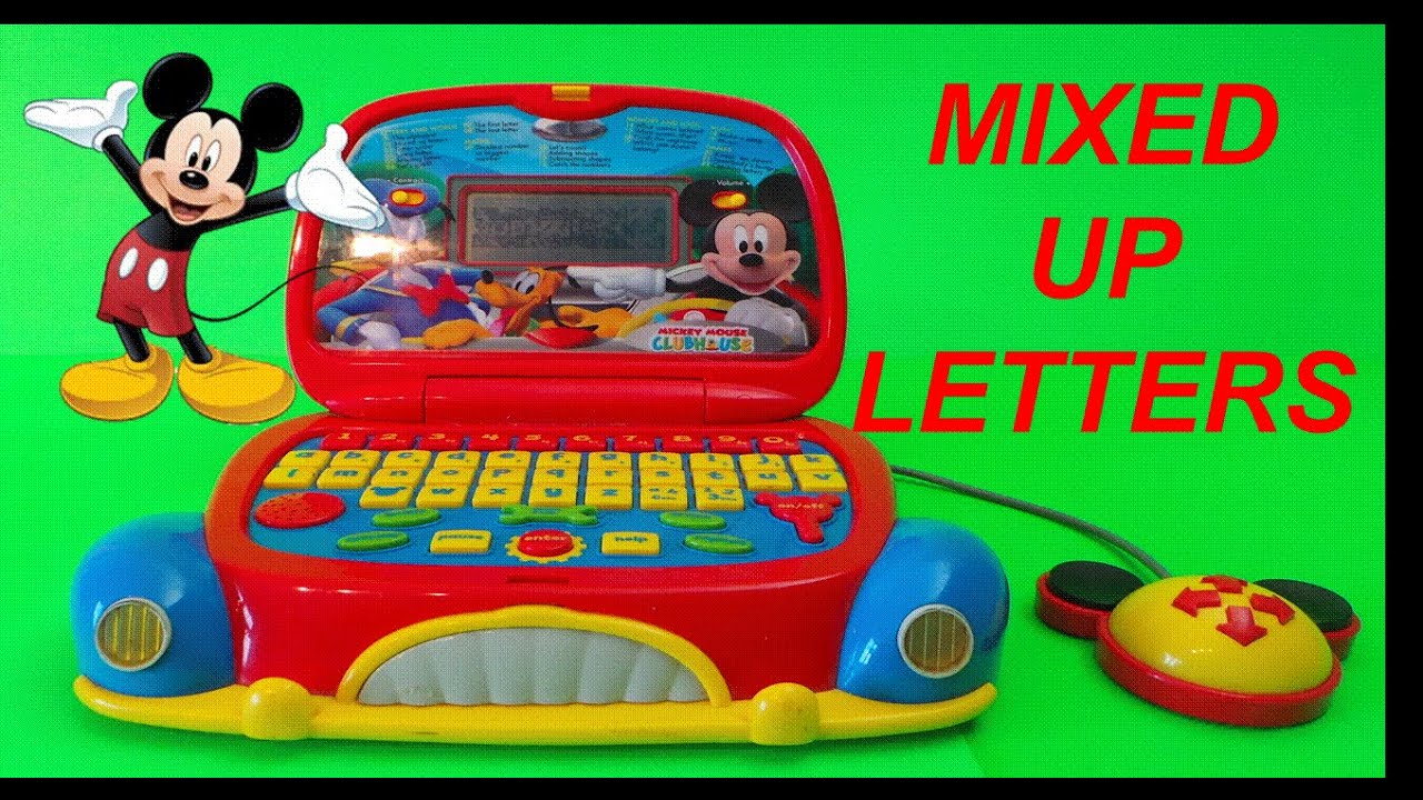 mixed up letters game with disney mickey mouse clubhouse laptop toy youtube