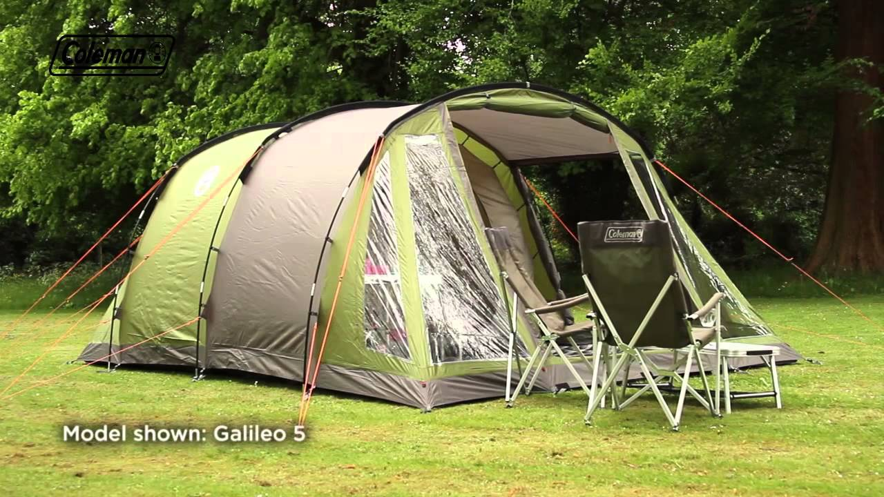 & Coleman® Galileo 4 - Family Camping Tent - YouTube