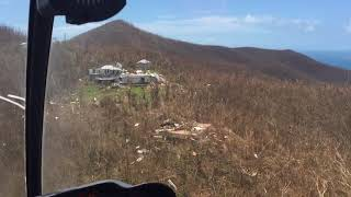 9/10/17 Aerial Footage Peters Bay and over the hill, St John USVI after Hurricane Irma