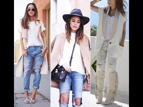 a0b8110c321 Casual outfit ideas with ripped jeans - YouTube