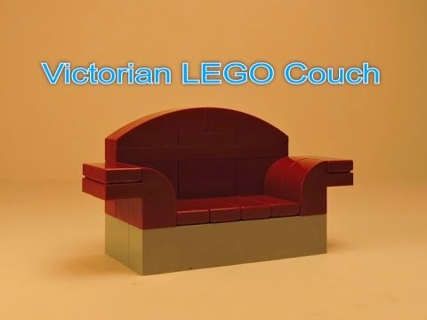Lego Victorian Couch Tutorial Youtube