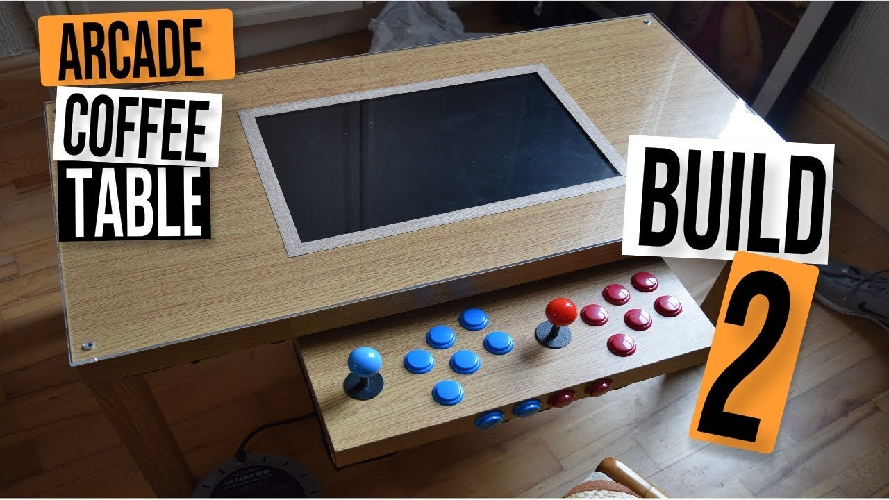 Mame D I Y Arcade Coffee Table Build 2 1200 Built In Games Youtube