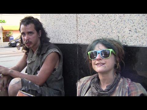 Amber and Earl are homeless youth travelers living on the streets of Denver