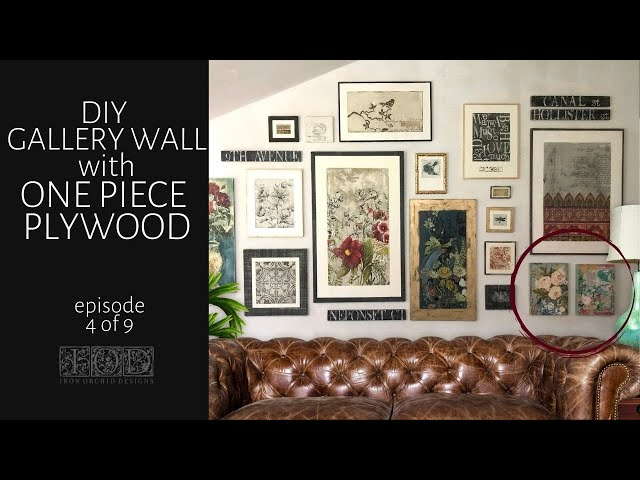 IOD Gallery Wall Episode 4 using IOD Stamps