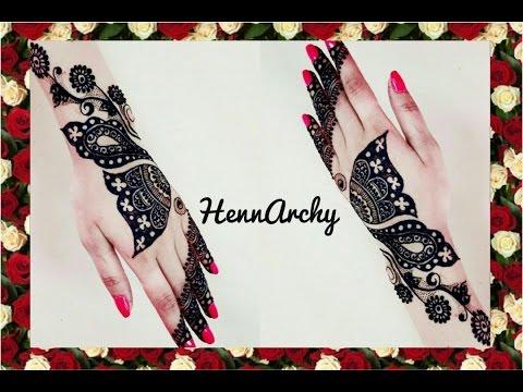 Mehndi Henna Butterfly : Half butterfly henna design youtube