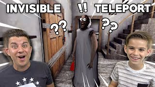 GRANNY CAN'T SEE US + WE CAN TELEPORT!! (Best Granny Glitch Ever)
