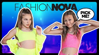 KIDS REACT TO MY FASHION NOVA OUTFITS *WHO WORE IT BETTER CHALLENGE* ❤️| Sophie Fergi Piper rockelle