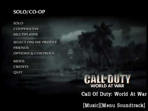 Call of duty world at war музыка из главного меню