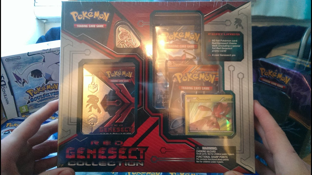 Pokemon Red Genesect Collection Box Unboxing!!!!!!