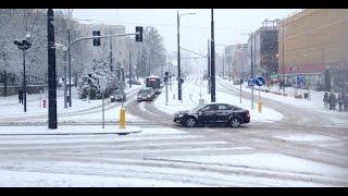 Atak zimy w Olsztynie