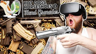 VR GUN PARADISE! VERY Realistic Shooting Range! | Hot Dogs, Horseshoes & Handgrenades