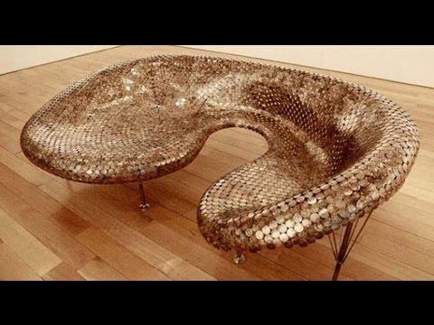 Diy Penny Decoration Art Furniture Youtube