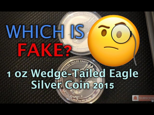 WHICH IS FAKE?- 1 oz Wedge-Tailed Eagle Silver Coin 2015