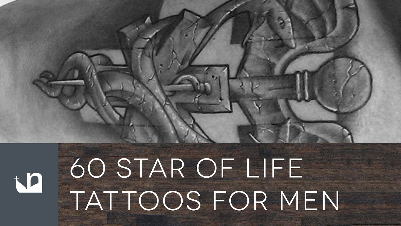 Star Of Life Tatoo: 60 Star Of Life Tattoos For Men