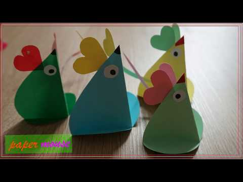 DIY Mouse Cute - Mouse for kids with paper easy
