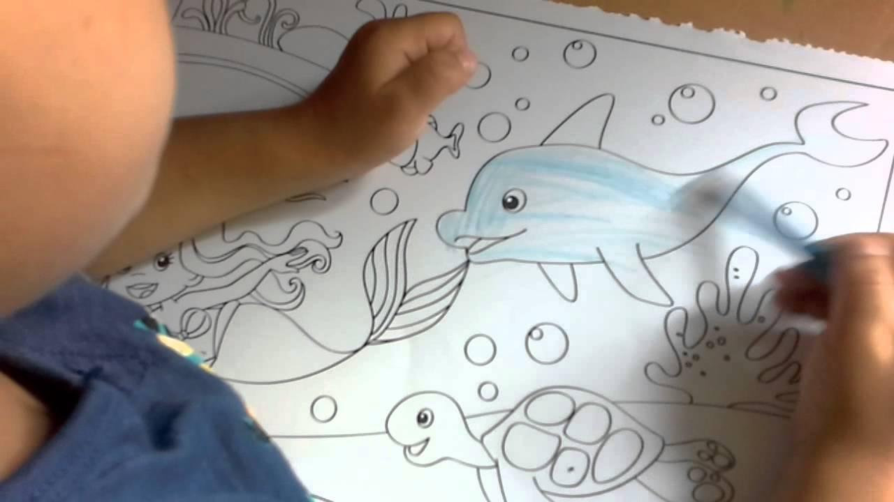 kleurplaat inkleuren door een 4 jarige