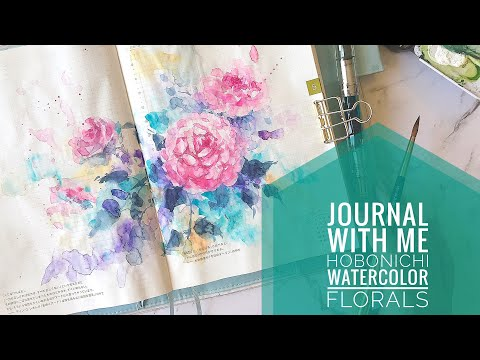 Journal With Me   Hobonichi Watercolor Floral Spread