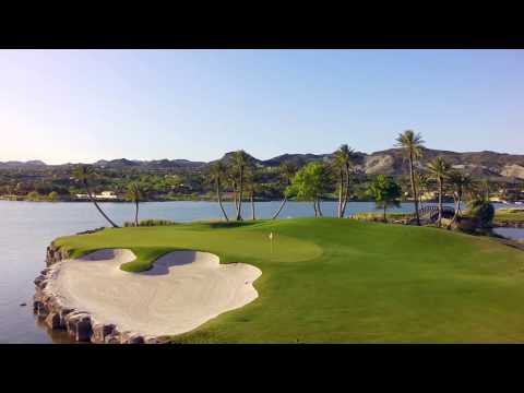 Reflection Bay Golf Club, Lake Las Vegas, flyover Drone footage