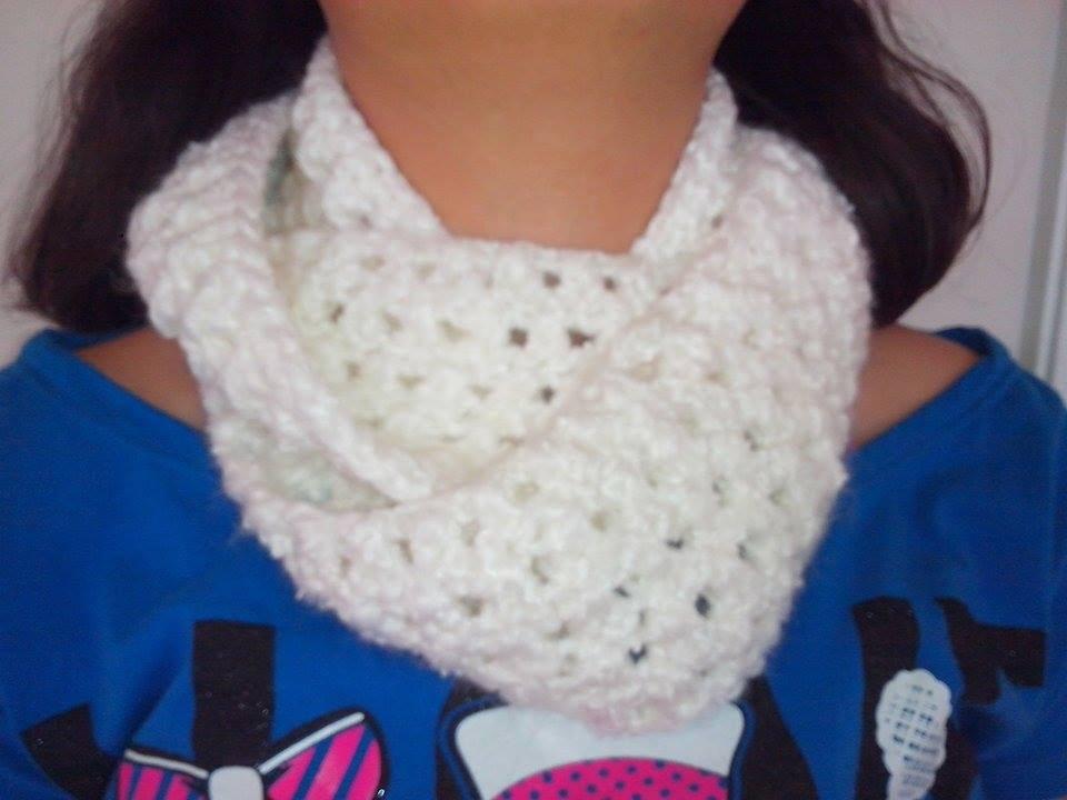 Bufanda Circular Tejida En Crochet - YouTube